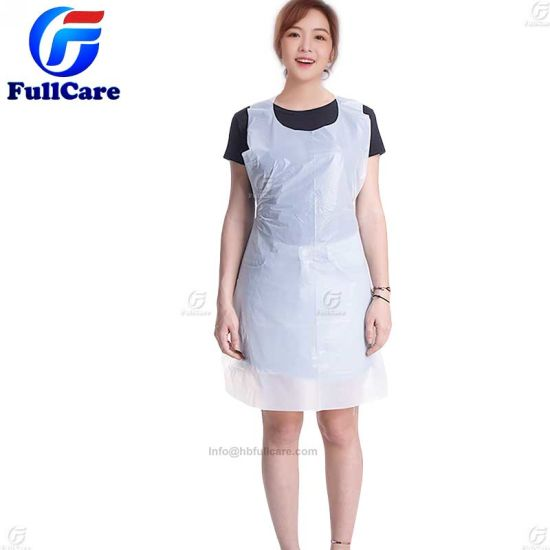 Disposable PE LDPE HDPE PVC PP Poly Waterproof Oilproof Nonwoven Transparent Kitchen CPE Restaurant Family Kitchen Cooking Dental Food Plastic Medical Apron Bib pictures & photos
