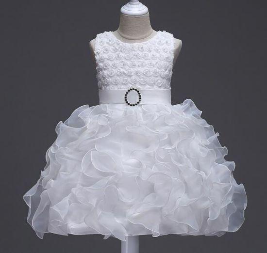 New Girls Puff Princess Wedding Evening Gown