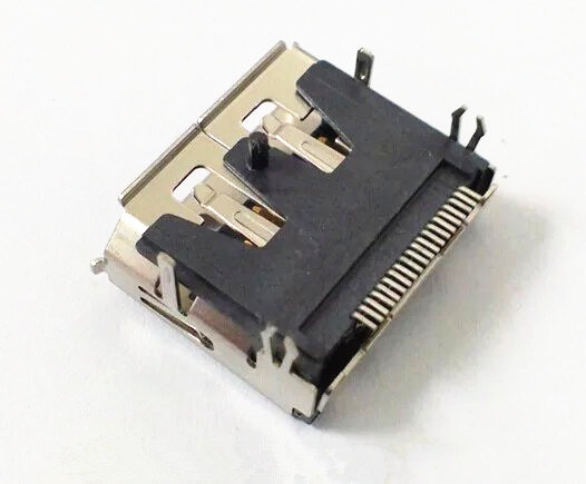 Display Port Female SMT Type with Post