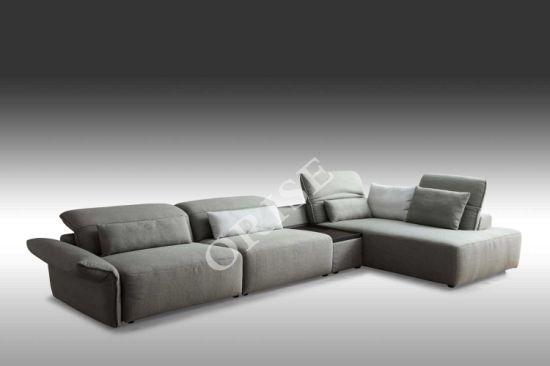 Living Room Modern Simple Confortable Cotton/Linen Fabric Sofa Set Designs