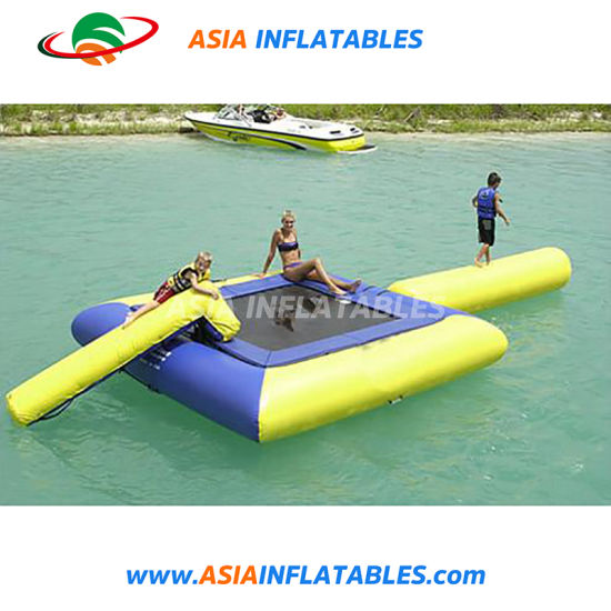 Cheap Inflatable Water Trampoline with Slide Inflatable Water Game pictures & photos