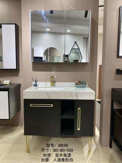 Plywood Solid Wood Melamine Bard Modern Floor Standing Bathroom Vanities