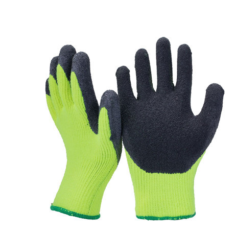 7g Acrylic Fleece Liner Coated Latex Thermal Soft Winter Work Safety Warm Glove