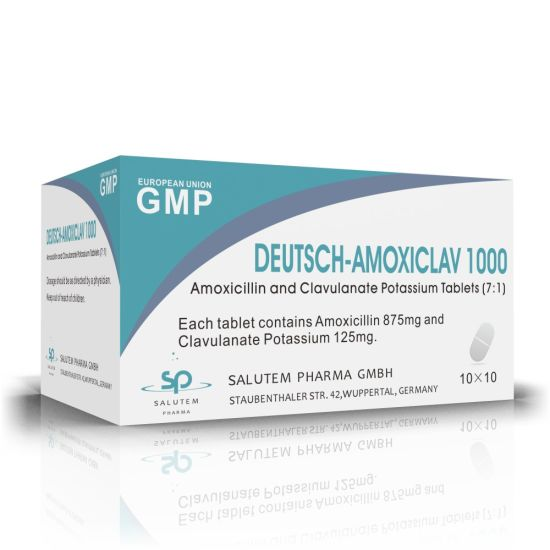 Competitive Contract Manufacturing Amoxicillin and Clavulanate Potassium Tablets 1000mg