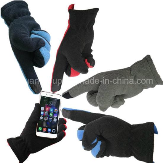 Hot Sale Driving Polar Fleece Touch Screen Telefingers Winter Gloves