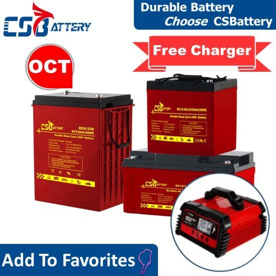 Csbattery 12V 100ah/150ah/200ah Deep-Cycle Gel Solar Battery VRLA/SLA/SMF/Mf/AGM/Rechargeable/UPS/Lead-Acid/Pack/6V/CSA