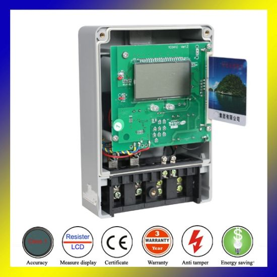 China Single Phase Prepaid Kwh Meter Hard for Digital