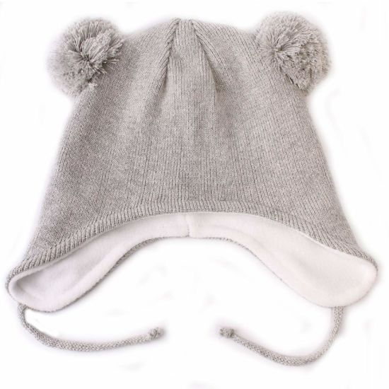 Toddler Soft Warm Fleece Lining Beanie Earflap Baby Hat Cap pictures & photos