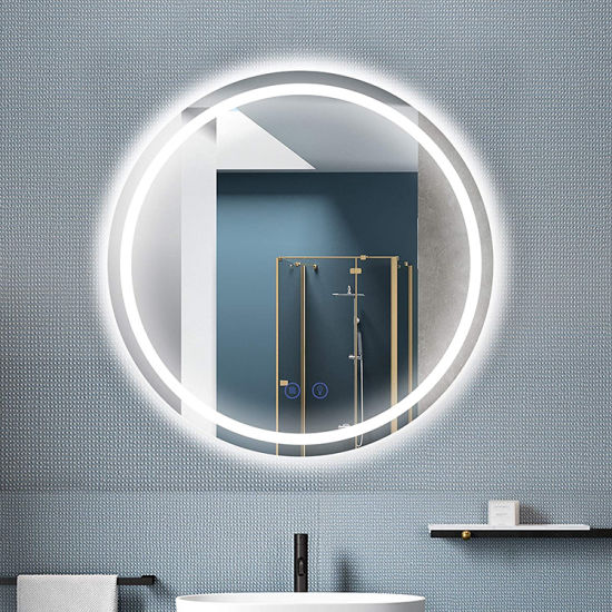 Round LED Mirror Illuminated Anti Fog LED Light Bathroom Smart Makeup Mirror Made in China