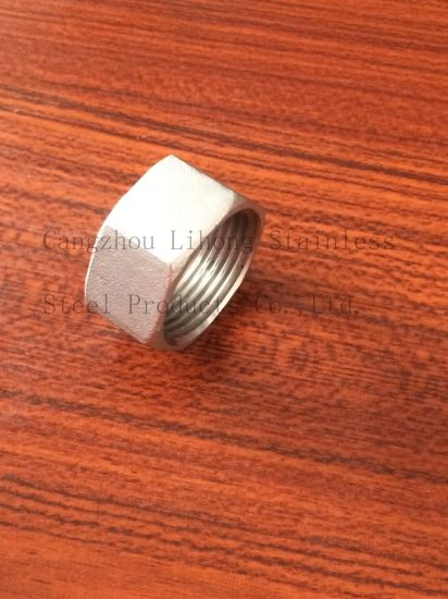 Stainless Steel Bsp Pipe Fittings Hex Nut From Casting pictures & photos