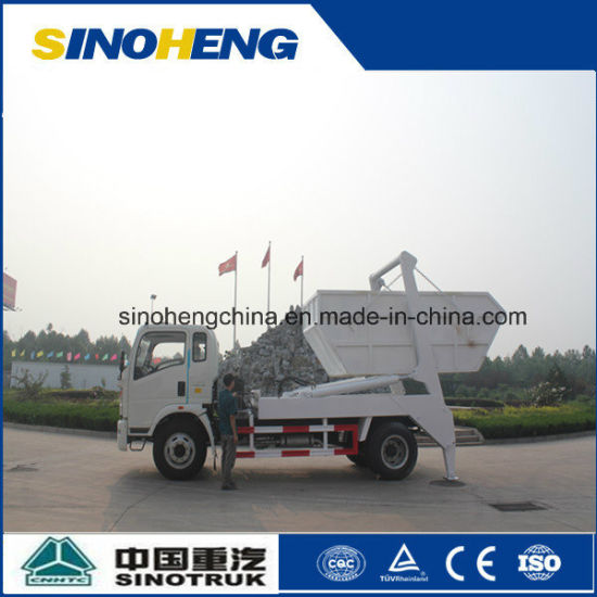 Sinotruk 4X2 Swing Arm Garbage Truck Skip Loader 8cbm (5 ton) pictures & photos