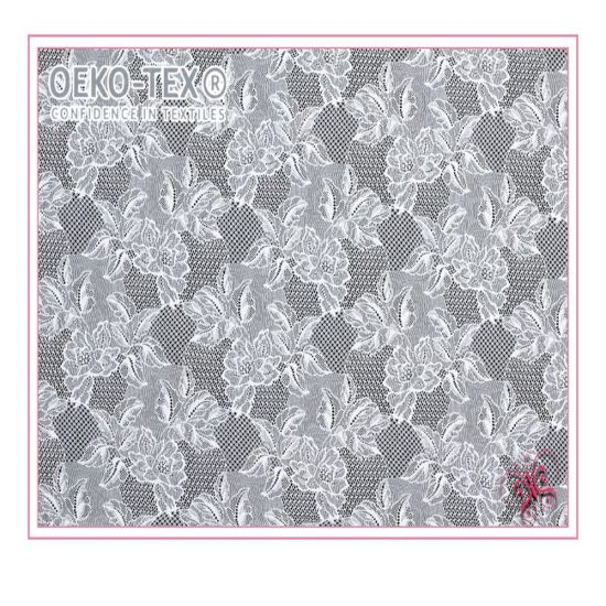 Breathable New Design Lycra Textiles Jacquard Lace Fabrics for Lingerie