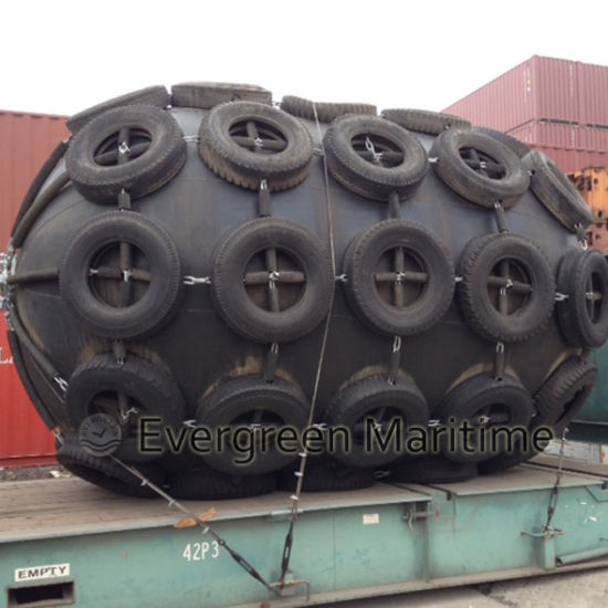 Pneumatic Fender with Chains Tires Cage P50 for Shipyard Use From China Manufacturer Supplier pictures & photos