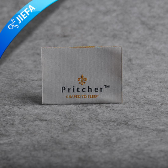 Customized Washable 2cm *7cm Clothing Main Woven Label pictures & photos