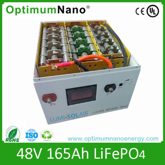 Optimumnano 48V LiFePO4 Battery for Telecom Application pictures & photos