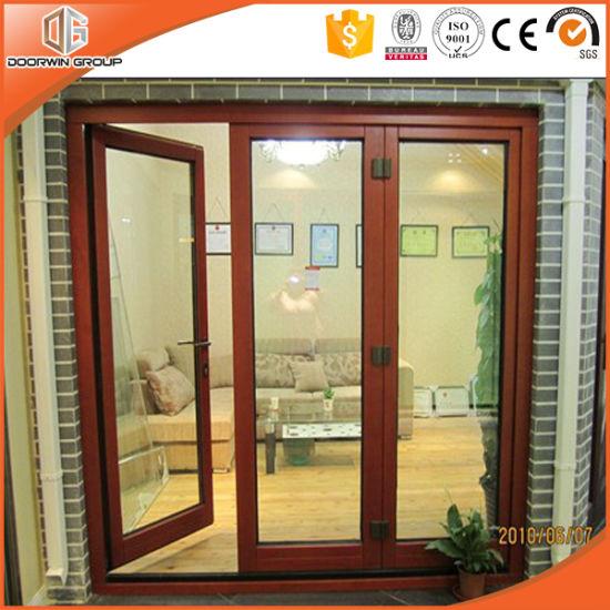 China High Quality Aluminum Wood French Hinged Patio Door China