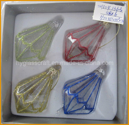 Hanging Glass Craft for Christmas Decoration