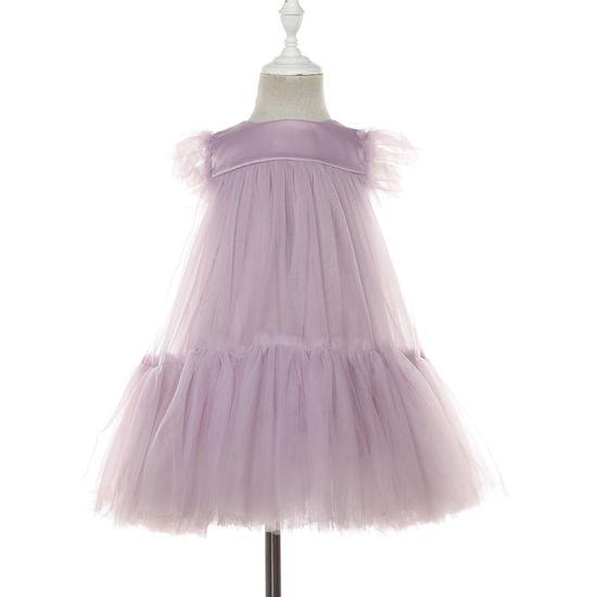 Short Sleeve Children Summer Dress Lace Dress Fashion Girl Skirt