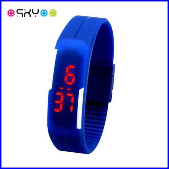 Customized Logo LED Digital Silicone Watch