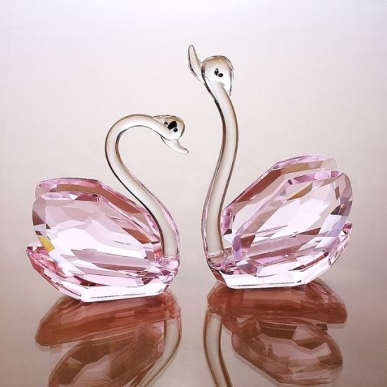 Other Art Glass Beautiful Glass Swan Glass