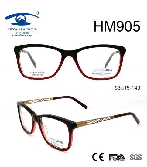 9b631f4828d New Arrival Hot Sale Hollow Acetate Optical Eyeglasses (HM905) pictures    photos