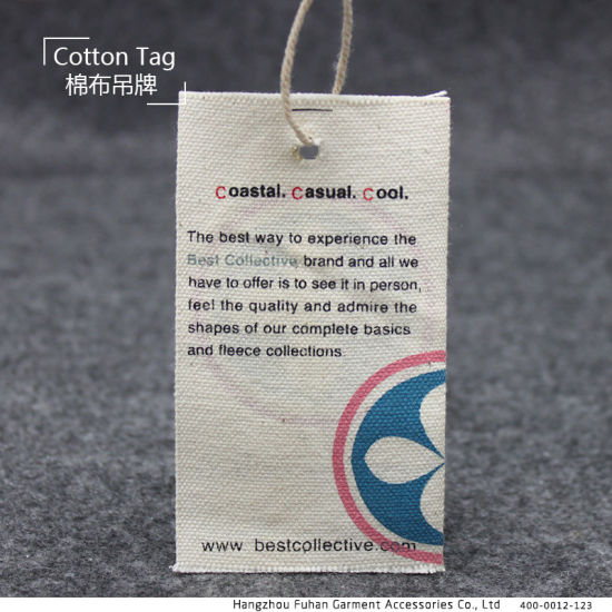 High-End Classic Cotton Hang Tag for Garments pictures & photos