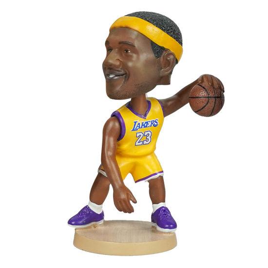 Polyresin NBA Basketball Player Lakers Lebron James Action Figurine Bobble Head for Car Dashboard Decor