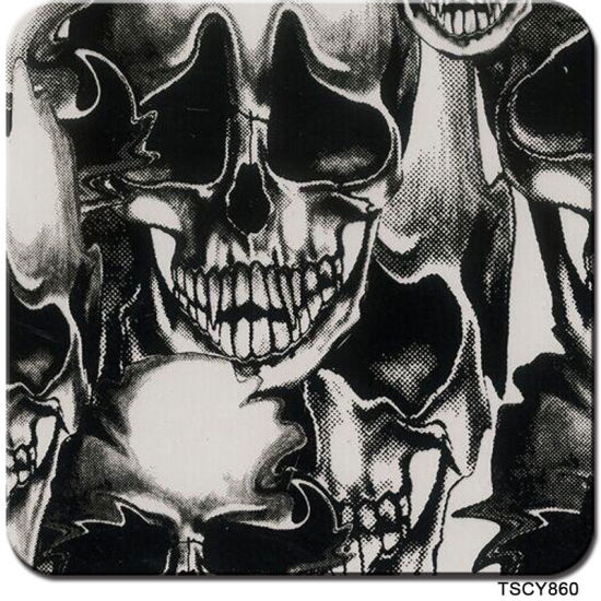 Tsautop 0.5m/1m Width Skull and Flame Hydrographic Film Water Transfer Printing Films Aqua Print Tskd728-1 pictures & photos