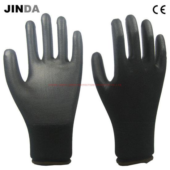 PU Coated Nylon Shell Work Gloves (PU005)