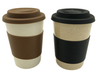 Eco-Friendly Organic Material Biodegradable Bamboo Fiber Coffee Cup (YK-BC4208)