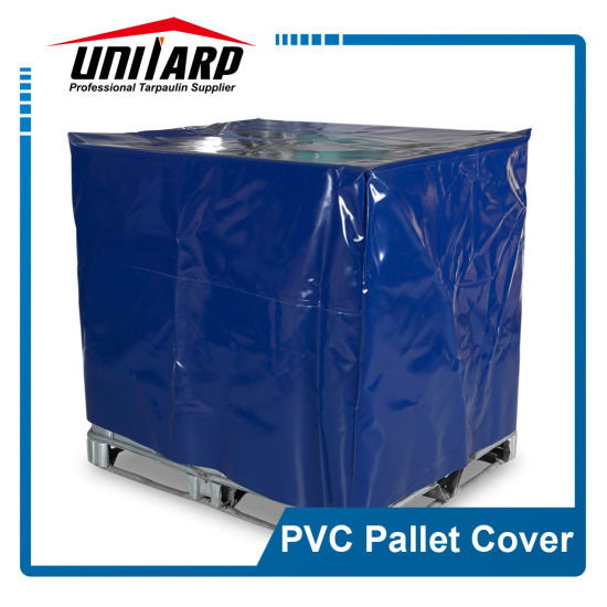 0.5mm Custom Made Anti-UV Dustproof PVC Tarpaulin Pallet Covers of Different Sizes pictures & photos
