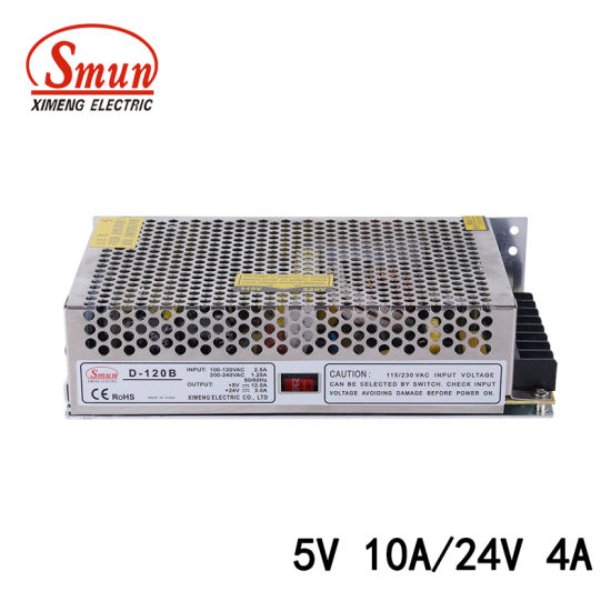 China 120W 5V 25A/24V 7A Dual Output Switching Power Supply SMPS ...