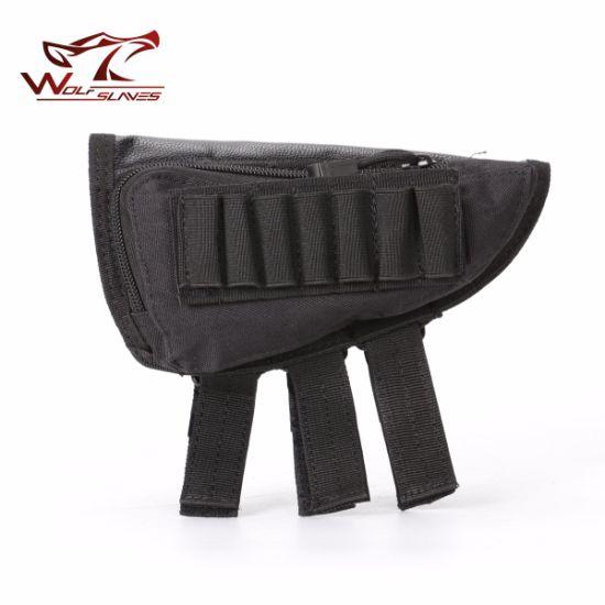 Military Tactical Airsoft Shotgun Rifle Ammo Pouch Cheek Pad Gun Bag