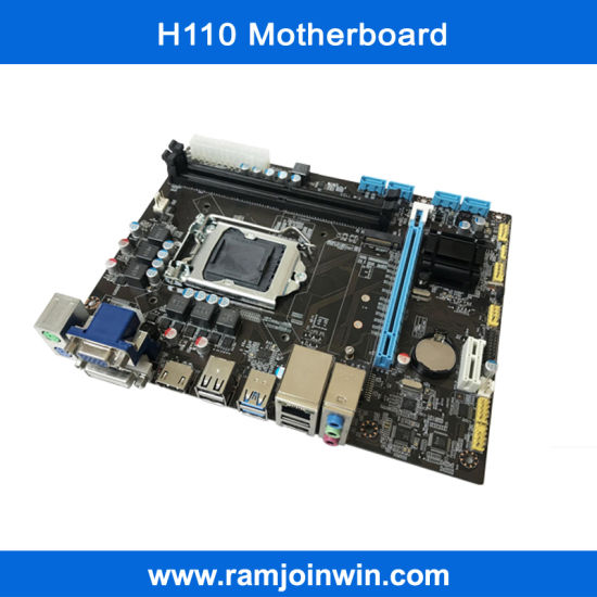 Intel H110 Chipset LGA 1151 Socket Bitcoin Mining DDR4 Motherboard pictures & photos