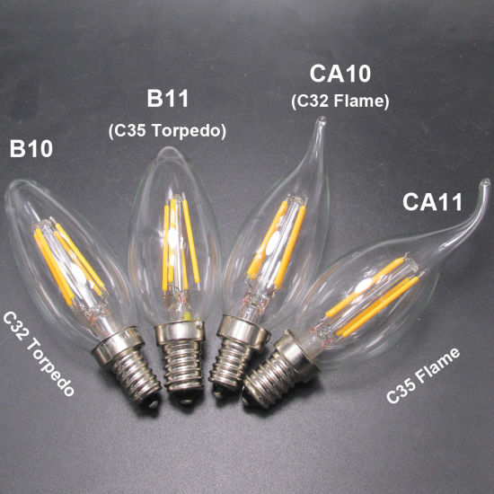 Ce RoHS Approved Filament Candle 4W LED Bulb Light pictures & photos
