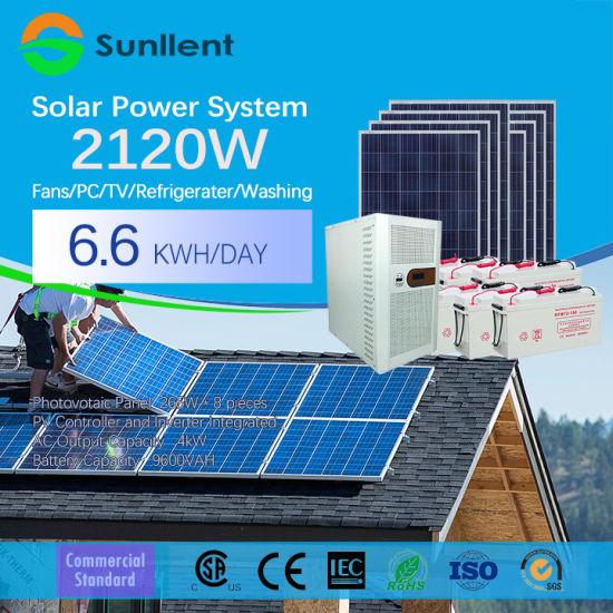 2kw off Grid Pure Sine Wave Hybrid Small Solar Power System
