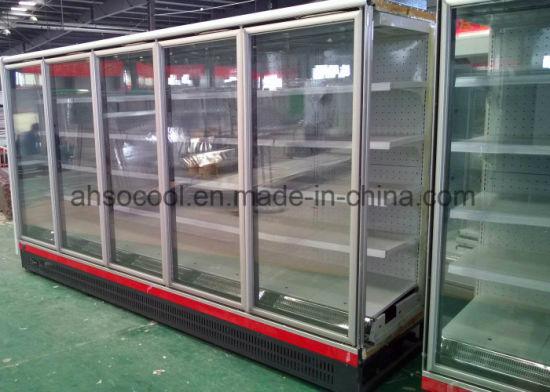 China Mulitdeck Glass Door Cooler Freezer For Supermarket Frozen