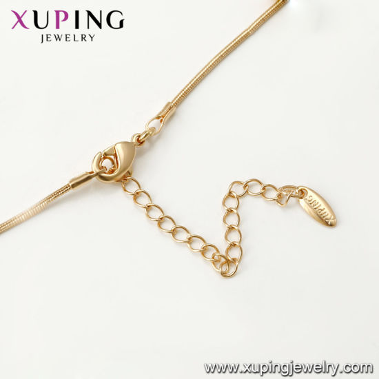 43904 Xuping Fashion 18K Gold Color Luxury Butterfly Heraldic Necklace pictures & photos