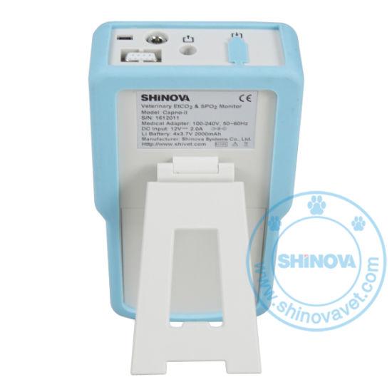 China Handheld Veterinary Capnograph Monitor Etco2+SpO2