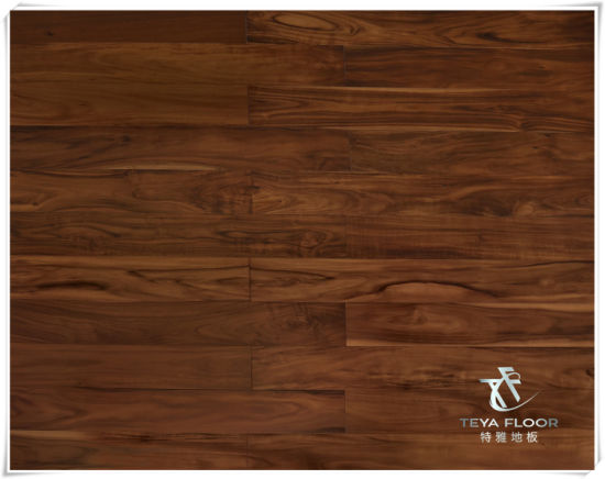 China Acacia Solid Wood Flooring Teak Color Hardwood China Wood
