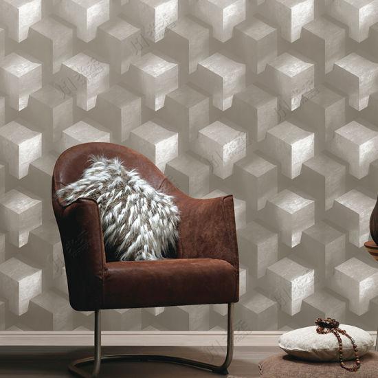 China Modern Design Pvc Waterproof 3d Home Decoration Wallpaper