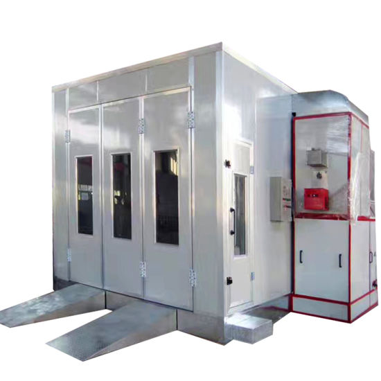 Auto Spray Painting Booth Room with Gas/Oil/Diesel/Waster Oil Burner Electric Heater
