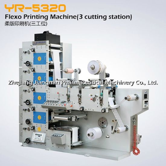 Flexo Printing Machine (3 cutting station) (YR-5320) Pharmceutical Printer Equipment
