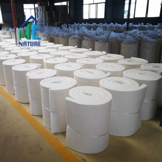 China Zibo Manufacture of 1260c Ceramic Fiber Blanket as Refractory Lining for Industrial Furnaces, Mineral Wool Blanket for Boiler Heaters, Back-up Insulation