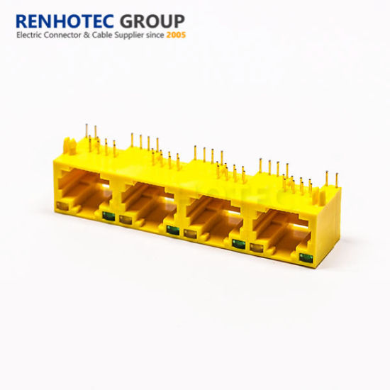 4 Port RJ45 Connector with LED