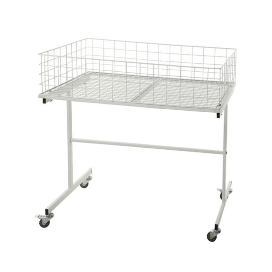 Supermarket Equipment Trolley Wire Mesh Cage Promotion Table