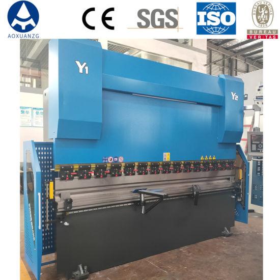 WE67K-220T/3200 DA52s 3 + 1 Axis Hydraulic Plate Press Brake CNC Bending Machine