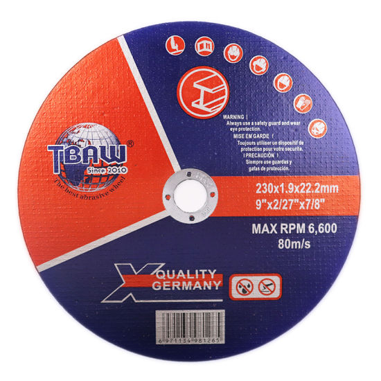 China Supply 9 Inch 230mm T41 Sharpness Stainless Steel Cut off Wheel Cutting Wheel Disc for Metal Steel