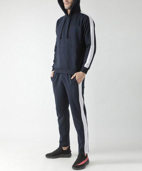 Customized Sweat Suit Men Jogging Sports Wholesale Side Strip Tracksuit