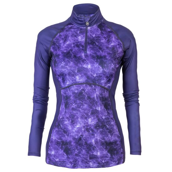 Women's Casual Colorful Purple Sublimation Printing Baselayer Sweatshirt